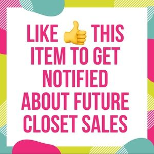 LIKE THIS ITEM TO GET NOTIFIED WITH FUTURE SALES